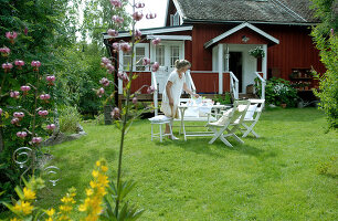 Bildno.: 11017503<br/><b>Feature: 00790028 - Swedish Charm, Western Chic</b><br/>A Swedish house in Dalarna with a Colorado feeling<br />living4media / Bj&#246;rnsdotter, Magdalena