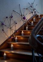 h ngender adventskranz mit hagebutten und zapfen living4media. Black Bedroom Furniture Sets. Home Design Ideas