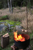 Bildno.: 11155645<br/><b>Feature: 11155636 - Forest Fun</b><br/>Roughing it in the autumn forest in Norway<br />living4media / Annette &amp; Christian