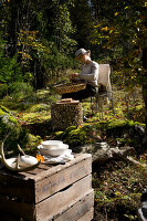 Bildno.: 11155651<br/><b>Feature: 11155636 - Forest Fun</b><br/>Roughing it in the autumn forest in Norway<br />living4media / Annette &amp; Christian