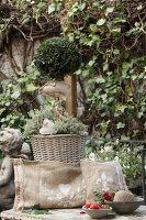 Bildno.: 11195055<br/><b>Feature: 11195046 - Sackcloth and String</b><br/>Great things for the garden made of simple materials<br />living4media / Raider, Peter