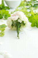 Bildno.: 11197313<br/><b>Feature: 11197304 - Roses and Lady's Mantle</b><br/>Delicate floral decoration<br />living4media / Schindler, Martina