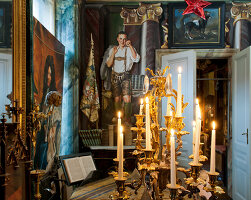 Bildno.: 11213075<br/><b>Feature: 11213061 - Staged for Living</b><br/>Stage designer&#39;s Baroque apartment in Vienna<br />living4media / von Oswald, Yvonne