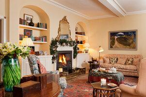 Bildnr.: 11216245<br/><b>Feature: 11216227 - Wo Weihnachten wohnt</b><br/>Klassisch dekoriertes Landhaus in Nottinghamshire, England<br />living4media / von Einsiedel, Andreas
