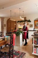 Bildnr.: 11216263<br/><b>Feature: 11216227 - Wo Weihnachten wohnt</b><br/>Klassisch dekoriertes Landhaus in Nottinghamshire, England<br />living4media / von Einsiedel, Andreas