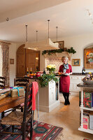 Bildnr.: 11216265<br/><b>Feature: 11216227 - Wo Weihnachten wohnt</b><br/>Klassisch dekoriertes Landhaus in Nottinghamshire, England<br />living4media / von Einsiedel, Andreas