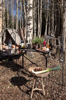 Bildno.: 11304411<br/><b>Feature: 11304393 - Forest Picnic</b><br/>Annette and Christian head for the woods for a typical Norwegian picnic<br />living4media / Annette &amp; Christian