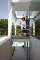 Bildnr.: 11321709<br/><b>Feature: 11321705 - Ein architektonischer W&#252;rfel</b><br/>Selbstdesigntes Haus mit ausgedehntem Aussenbereich f&#252;r die Freizeit, Italien<br />living4media / Rizzi, Laura