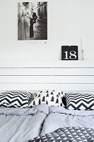 Bildnr.: 11321955<br/><b>Feature: 11321942 - Grafisches Nordlicht</b><br/>Modern, kreativ und schwarz-wei&#223;: So lebt eine junge Familie in Schweden<br />living4media / M&#246;ller, Cecilia