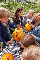 Bildno.: 11345915<br/><b>Feature: 11345897 - Pumpkin Party</b><br/>Pumpkins and Jack-o&#39;-Lanterns<br />living4media / Klazinga, Jansje