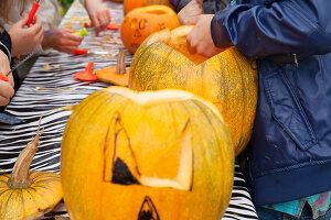 Bildno.: 11345927<br/><b>Feature: 11345897 - Pumpkin Party</b><br/>Pumpkins and Jack-o&#39;-Lanterns<br />living4media / Klazinga, Jansje
