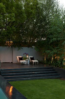 Bildno.: 11382451<br/><b>Feature: 11382433 - Dramatic Outdoor Spaces</b><br/>Contemporary split-level garden in Parkmore, Johannesburg<br />living4media / Great Stock!
