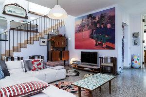 Bildno.: 11392727<br/><b>Feature: 11392685 - Missoni Magic</b><br/>Designer&#39;s house in Como, Italy<br />living4media / Cimarosti, Brando