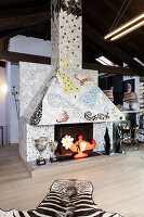 Bildno.: 11392733<br/><b>Feature: 11392685 - Missoni Magic</b><br/>Designer&#39;s house in Como, Italy<br />living4media / Cimarosti, Brando