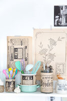 Bildno.: 11508747<br/><b>Feature: 11508741 - Catching the Eye</b><br/>DIY project using vintage French paper products<br />living4media / Syl Loves