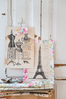 Bildno.: 11508749<br/><b>Feature: 11508741 - Catching the Eye</b><br/>DIY project using vintage French paper products<br />living4media / Syl Loves