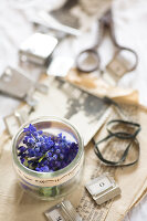 Bildnr.: 11948031<br/><b>Feature: 11948017 - Vintage-Fr&#252;hling</b><br/>Stillleben aus Heute &amp; Gestern, Blumen, Fotos und Kuchen<br />living4media / Koll, Alicja
