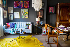 Bildno.: 11950835<br/><b>Feature: 11950823 - Eclectic Mixture</b><br/>A love of colour has transformed the life of this artist in Amsterdam<br />living4media / Afanasieva, Oxana