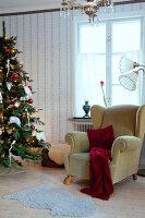 Bildno.: 11990617<br/><b>Feature: 11990571 - Christmas up North</b><br/>Nostalgic house in Kvarnsvedjan, a small village outside Ume&#229;, North Sweden<br />living4media / Isaksson, Camilla