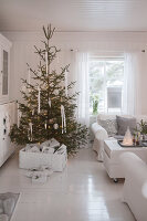 Bildno.: 11990829<br/><b>Feature: 11990828 - Christmas in Skellefte&#229;</b><br/>White is the theme of this Christmas decor in Skellefte&#229;, Sweden<br />living4media / Isaksson, Camilla