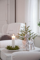 Bildno.: 11990839<br/><b>Feature: 11990828 - Christmas in Skellefte&#229;</b><br/>White is the theme of this Christmas decor in Skellefte&#229;, Sweden<br />living4media / Isaksson, Camilla
