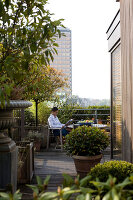 Bildno.: 12100969<br/><b>Feature: 12100951 - High Gardening</b><br/>Rooftop garden in Antwerp, Belgium<br />living4media / Obijn, Guy
