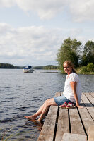 Bildno.: 12235777<br/><b>Feature: 12235722 - Idyll By The Lake</b><br/>Perfect vacations in a cosy summer home and a big old mill in Sweden<br />living4media / Isaksson, Camilla