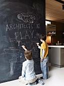 regalwand als raumteiler in einem kinderzimmer living4media. Black Bedroom Furniture Sets. Home Design Ideas