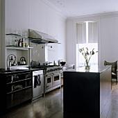 offene küche im altbau mit freistehenden küchenblock ? living4media - Küche Altbau