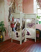 paravent mit auf stoff bedrucktem foto bild kaufen. Black Bedroom Furniture Sets. Home Design Ideas
