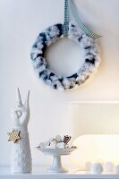 Shortbread biscuits and a wreath on the wall