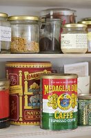 Food products on shelf