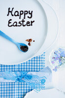 'Happy Easter' written on a plate