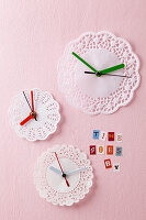 Doily clocks