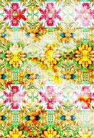 Repeating floral pattern (print)