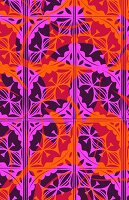 Pink and orange multi-layered pattern (print)