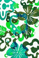 Multi-layered tropical flower design (print)