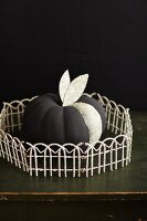 Black Halloween pumpkin with glitter