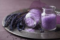 Lavender spa set with salt