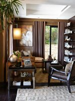 Elegant lounge area in shades of brown
