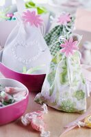 Small fabric bags for use as gift bags or scented sachets