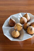 Pears in white, designer fruit bowl