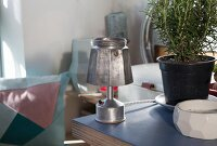Upcycling - table lamp made from espresso pot