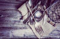 Rustic silverware
