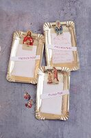 Gilden Christmas messages with kitchen paper and saint wafers