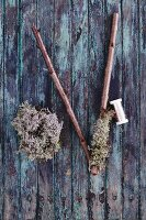 Branches, wire and Icelandic moss for crafts