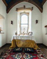 Restored chapel with altar below window