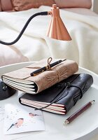 DIY – leather book covers
