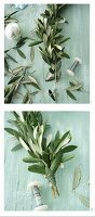 Instructions for making a festive olive-branch garland