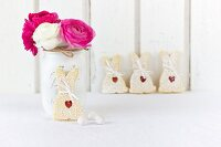 Bunny-shaped Easter biscuits